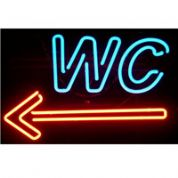WC Neon Sign (left)